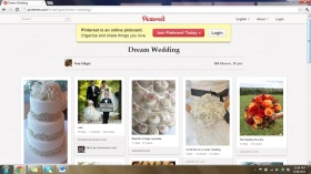 """Dream Wedding"" Board"