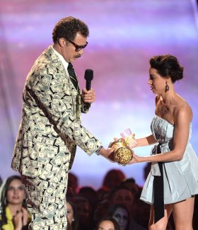 aubrey plaza will ferrell mtv movie awards