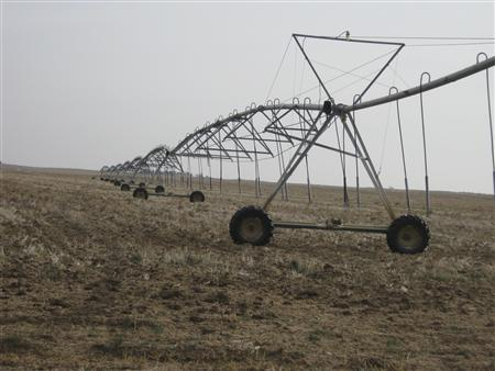Irrigation units are pictured in southwest Kansas near Dodge City Kansas