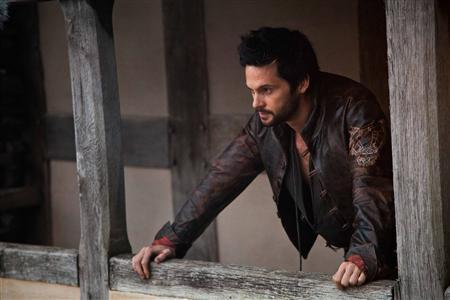 "Actor Tom Riley portrays inventor Leonard Da Vinci in ""Da Vinci's Demons"" in this undated publicity photograph"