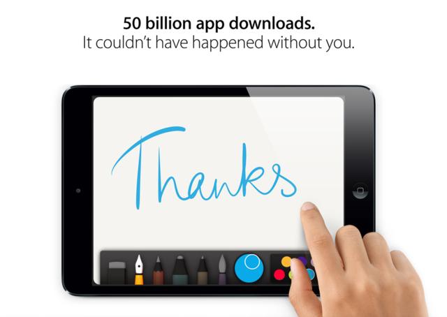 Apple's App Store passes 50 billion downloads