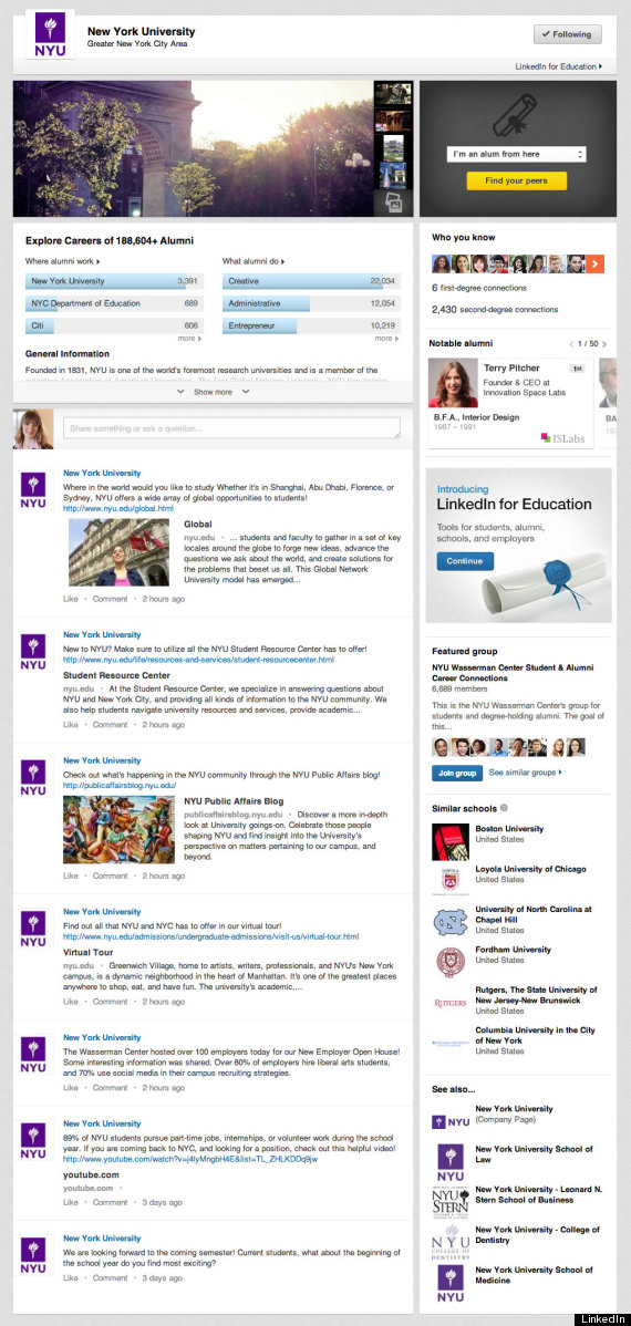 LinkedIn Opens Floodgates To Teens With Launch Of University Pages !!!  (QUICK READ)