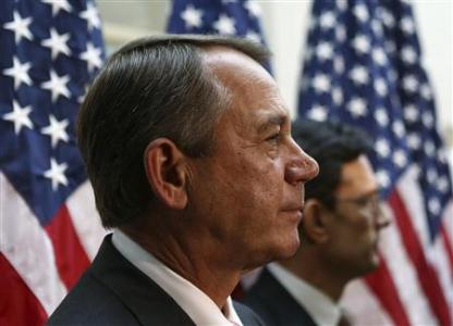 U.S. Speaker of the House Boehner and Rep Cantor attend a news conference in Washington